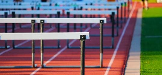 Hurdles lined up