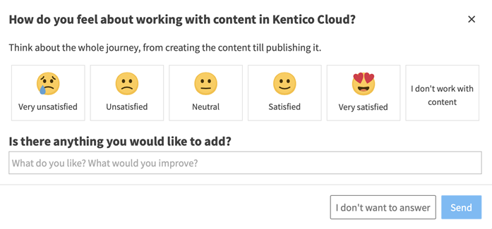 How do you feel about working with content in Kentico Cloud?