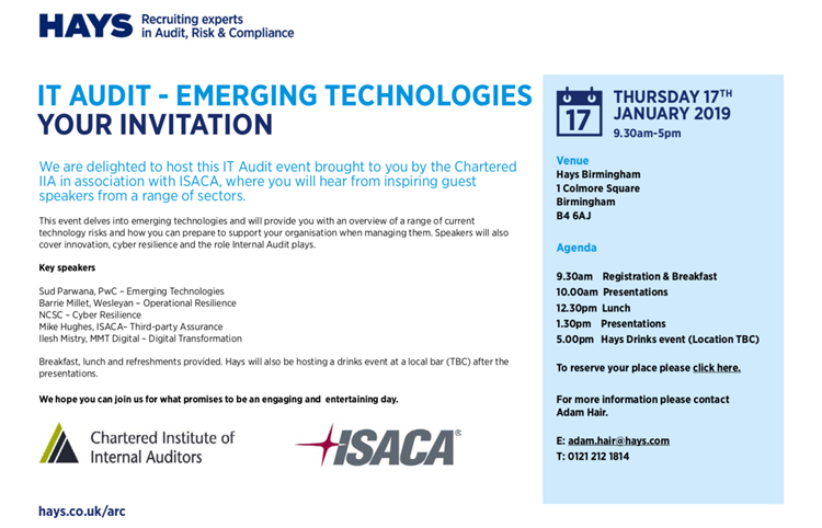 IT Audit - Emerging Technologies