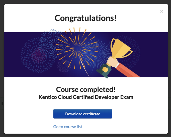 Kentico Cloud certified developer