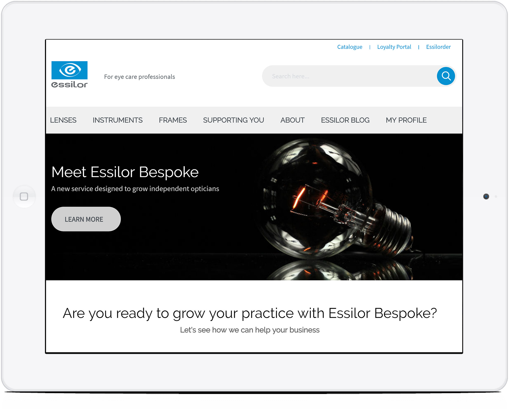 Essilor home page